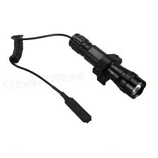 3000Lm XM-T6 LED 501B Tactical Flashlight Torch Pressure Switch Mount Light Gun