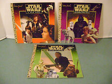 Star Wars Set of 3 Original Trilogy Soft Cover Special Edition Golden Books 1997