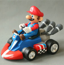 Super Mario Brother 10CM Pull Back Toy Car Model PVC Figures Gift