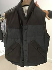 Brunello Cucinelli Men's Vest Leather/Wool/Silk/Cashmere, Medium Retail $3995.00