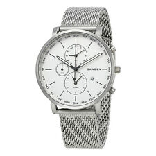 Skagen Hagen Silver Dial World Time Mens Watch SKW6301