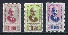 30889) TURKEY 1956 MNH** Mehmet Akif Ersoy 3v.