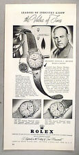 Rolex Chronometer Watch PRINT AD - 1955 ~~ Duncan Menzies, Servel president