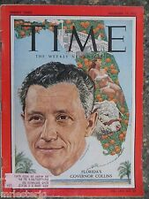 Time Magazine  December 19, 1955   Florida's Governor Roy Collins  VINTAGE ADS