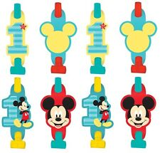 New Disney Baby Mickey Mouse 1st Birthday Blowouts (8PC) Party Favors