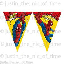 Ultimate SPIDERMAN Bunting bandiera banner Ragazzi Cartoon Festa Di Compleanno Decorazioni
