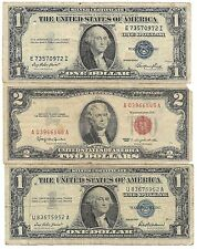 100% Old Rare 1935 1957 US Silver Certificate Collection Lot USA $2 Dollar Bill