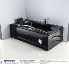 BLACK 1 Person Jetted Whirlpool Massage Hydrotherapy Bathtub Tub Indoor - White