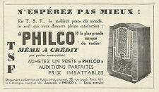 W6209 Radio PHILCO - Pubblicità 1934 - Advertising