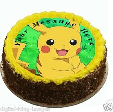 Pokemon Go Pikachu Cake topper edible image icing party Birthday REAL FONDANT