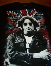 THE BEATLES JOHN LENNON WORKING CLASS HERO T-Shirt LARGE NEW British Flag