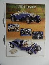 Franklin Mint 1935 MERCEDES BENZ 500K Brochure Pamphlet Mailer