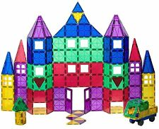 Playmags Clear Colors Magnetic Tiles Deluxe Building Set 100 +18 Piece Set