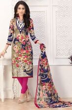 Elegant Crepe Designer Printed Unstitched Dress Material Suit D.No SFD11001