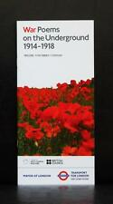 TFL WAR POEMS ON THE UNDERGROUND 1914-1918 GREAT WAR MAYOR LONDON ARTS COUNCIL