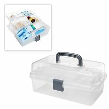 MyGift® Plastic 2 Tier Trays Craft Supply Storage Box / Firstaid Carrying Case