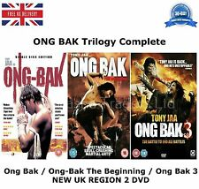 ONG BAK TRILOGY PART 1 2 3 COMPLETE COLLECTION Tony Jaa NEW SEALED UK R2 DVD