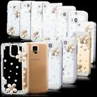 iCues Rhinestone Pearl Flower Cover +Screen Protector Film +Polishing Cloth Case