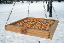 Hanging Bird Feeder - Hanging Tray Bird Feeder - Cedar Bird Feeder