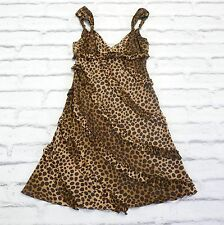 TREND: Moschino Leopard Silk Frill Trim Babydoll Party Dress New IT46/UK14