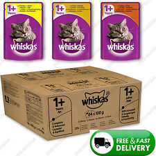 Wet Cat Food Whiskas 1+ Adult Mixed Selection GRAVY Chicken Pack of 84 Pouches