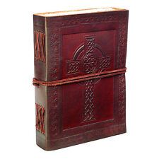 Fair Trade Handmade Indra Celtic Cross Leather Journal 2nd Quality
