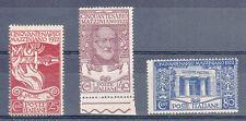 REGNO - 1922 - Mazzini - Serie completa (128/130) - MHN