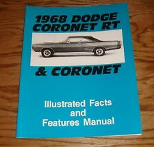 1968 Dodge Coronet & RT Illustrated Facts & Features Manual 68