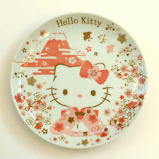 Hello Kitty Fujisan and Cherry Blossom Ceramic Plate Made in Japan
