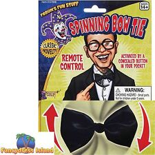 SHOWBIZ FUN SPINNING CLOWN CIRCUS BOW TIE - fancy dress costume accessory