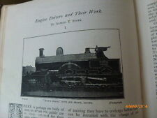 Steam Train Engine Locomotive Drivers Donald Currie Steamships Old Article 1894