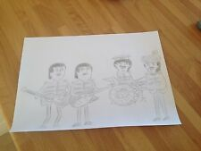 THE BEATLES CARICATURE FUNNY COMEDY PENCIL DRAWING SKETCH ART  Sgt. Pepper