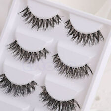 5 Pairs Makeup Handmade Long Thick Cross False Eyelashes Eye Lashes Extension