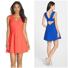 FELICITY & COCO  OPEN CUTOUT  BACK FIT & FLARE DRESS  Sz M  Nordstrom  NEW $118