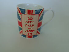 Kent Pottery British Flag Keep Calm and Carry On Mug