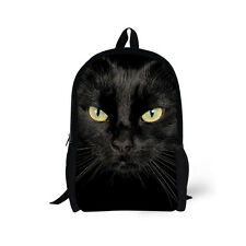 High School Bags Teenage Girls Black Cat Rucksack Backpack Messenger Book Bag