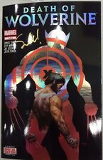 THE DEATH OF WOLVERINE #1 CHROMIUM COVER SIGNED BY WRITER CHARLES SOULE