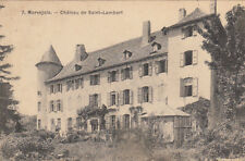 MARVEJOLS 7 château de saint-lambert timbrée 1910