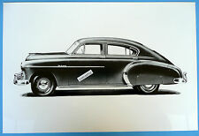 """12 By 18"""" Black & White Picture 1950 Chevrolet 4 Door Deluxe Fastback"""