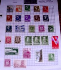 OLD  ALBUM PAGE OF 27  VINTAGE  MIXED USED STAMPS  SEE PHOTOS FOR CONDITION