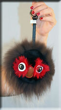 New Silver Owl Fur Key Chain- Mitchies Monsters Extra Large Size - Efurs4less