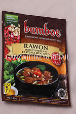 "Indonesian Receipe for RAWON - INSTANT SPICES EAST JAVA MEAT SOUP  ""BAMBOE"""