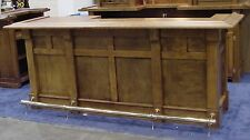 Custom Home Bar 8 foot with 32 inch deep top optional wet or dry return