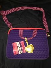 Girls Justin Bieber Purple Laptop Bag! Super Cute! L@@k!!