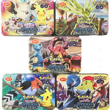40pcs/Set Pokemon TCG Cards Lot Common Uncommon Guaranteed Rare + Iron Case Gift