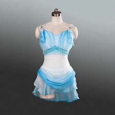 Professional Short Blue White Ballet Skate Costume Dress Cupid Custom MTO YAGP