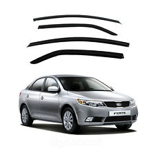 New Smoke Window Vent Visors Rain Guards for Kia Forte 4Door 2009 - 2013