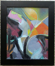 KEVIN YUEN 16x20 PAINTING ABSTRACT EXPRESSIONISM CALIFORNIA MODERN LISTED