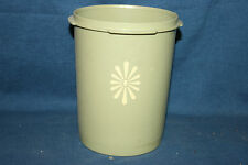 Vintage Tupperware  Replacement Nesting Canister Olive Green Daisy Flower #811