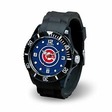 Chicago Cubs 2016 World Series Champs MLB Baseball Men's Black Spirit Watch  NEW
